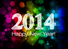 2014 Gelukkig Nieuwjaar Stock Fotografie