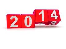 Gelukkig Nieuwjaar 2014 Royalty-vrije Stock Afbeelding