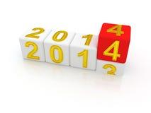 Gelukkig Nieuwjaar 2014. Stock Foto's