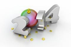 2014 Gelukkig Nieuwjaar Royalty-vrije Stock Afbeelding