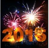 2015 Gelukkig Nieuwjaar Royalty-vrije Stock Afbeelding