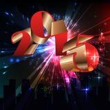 2015 Gelukkig Nieuwjaar Royalty-vrije Stock Fotografie