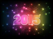 Gelukkig Nieuwjaar 2015_01 stock illustratie