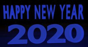 Gelukkig Nieuwjaar 2020 Stock Foto's