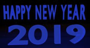 Gelukkig Nieuwjaar 2019 Stock Afbeeldingen