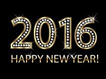 2016 Gelukkig Nieuwjaar Stock Fotografie