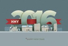 2016 Gelukkig Nieuwjaar Royalty-vrije Stock Afbeelding