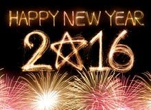 Gelukkig Nieuwjaar 2016 Stock Afbeeldingen