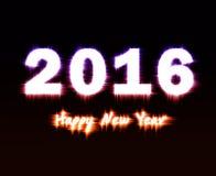 Gelukkig Nieuwjaar 2016 Royalty-vrije Stock Foto's