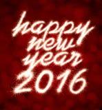 Gelukkig Nieuwjaar 2016 Stock Foto's