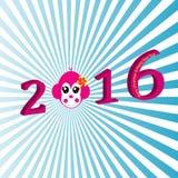 Gelukkig Nieuwjaar 2016 Royalty-vrije Stock Fotografie