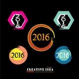 Gelukkig Nieuwjaar 2016 vector illustratie