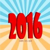 Gelukkig Nieuwjaar 2016 Royalty-vrije Stock Foto