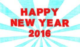 Gelukkig Nieuwjaar 2016 Stock Afbeelding