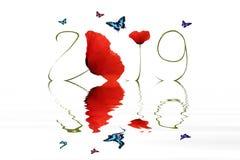 Gelukkig Nieuwjaar 2019 Stock Afbeelding