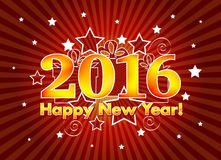 2016 Gelukkig Nieuwjaar Royalty-vrije Stock Afbeeldingen