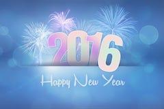 2016 Gelukkig Nieuwjaar Stock Afbeelding