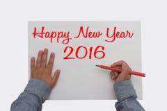 Gelukkig Nieuwjaar 2016 - Stock Foto