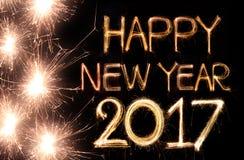 Gelukkig Nieuwjaar 2017 Stock Fotografie