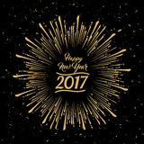Gelukkig Nieuwjaar - 2017 royalty-vrije illustratie