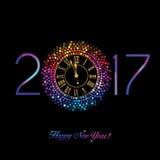 Gelukkig Nieuwjaar - 2017 Stock Afbeelding