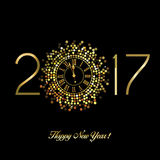 Gelukkig Nieuwjaar - 2017 Stock Foto