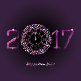 Gelukkig Nieuwjaar - 2017 Royalty-vrije Stock Foto's