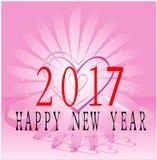 Gelukkig Nieuwjaar 2017 Stock Foto's