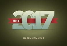 2017 Gelukkig Nieuwjaar Stock Afbeeldingen