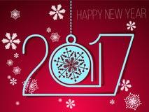 2017 Gelukkig Nieuwjaar Stock Foto's