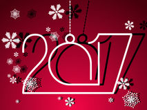 2017 Gelukkig Nieuwjaar Stock Afbeelding