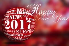 Gelukkig Nieuwjaar 2017 Stock Afbeelding