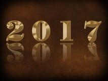 Gelukkig Nieuwjaar - 2017 Royalty-vrije Stock Afbeeldingen