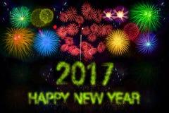 Gelukkig Nieuwjaar 2017 Stock Afbeeldingen