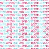 Gelukkig Nieuwjaar 2017, 2018 Stock Foto