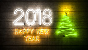 2018 Gelukkig Nieuwjaar 2018 Stock Afbeelding