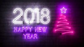 2018 Gelukkig Nieuwjaar 2018 Stock Fotografie