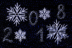 Gelukkig Nieuwjaar - 2018 Royalty-vrije Stock Afbeelding
