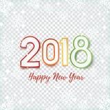 Gelukkig Nieuwjaar 2018 abstract ontwerp Royalty-vrije Stock Afbeeldingen