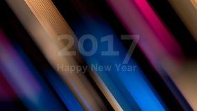 Gelukkig Nieuwjaar 2017 Abstracte artistieke achtergrond Defocusedcol. Stock Foto's