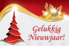 Gelukkig Nieuwjaar - collectieve groetkaart in het Nederlands vector illustratie