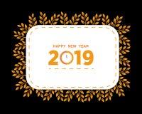 2019 Gelukkig Nieuwjaar creatief ontwerp voor uw groetenkaart, vliegers, uitnodiging, affiches, brochure, banners, kalender Vecto vector illustratie