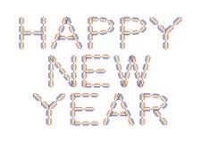Gelukkig Nieuwjaar dat in regenboogkleuren wordt gemaakt Royalty-vrije Stock Afbeeldingen