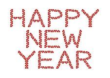 Gelukkig Nieuwjaar dat van harten wordt gemaakt Royalty-vrije Stock Afbeelding