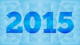 Gelukkig Nieuwjaar 2015, dat in veelhoekige origamistijl wordt gemaakt Vector illustratie Royalty-vrije Stock Afbeelding