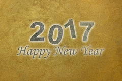 Gelukkig Nieuwjaar 2017 De gelukkige achtergrond van het Nieuwjaar De hemel van de nacht Stock Foto
