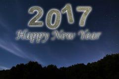 Gelukkig Nieuwjaar 2017 De gelukkige achtergrond van het Nieuwjaar De hemel van de nacht Stock Afbeelding