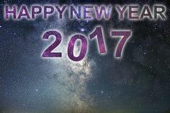 Gelukkig Nieuwjaar 2017 De gelukkige achtergrond van het Nieuwjaar De hemel van de nacht Stock Fotografie