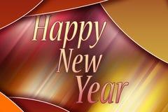 Gelukkig Nieuwjaar - de kaart van de Groet Stock Afbeeldingen