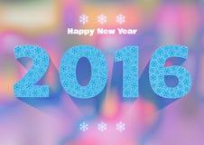 Gelukkig Nieuwjaar 2016 De mooie achtergrond van Kerstmis Stock Afbeeldingen